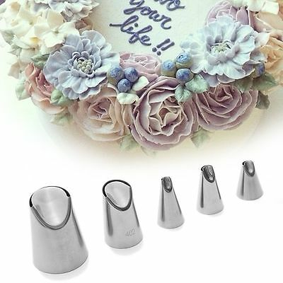 1 PC/5 PCS Cream Russian Nozzle Juju Tulip Stainless Steel Icing Piping  Tips