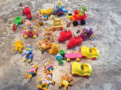 1980's Lot of McDonald's Toys The Muppet Babies Plus Red Wagon & Garfield