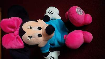"Disney Store ~ MINNIE MOUSE IN BLUE DRESS 16"" Mickey Clubhouse Soft Plush Toy"