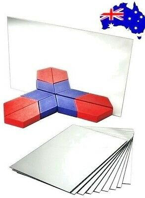 Single Sided Plastic Mirrors SAFE for Children x 5