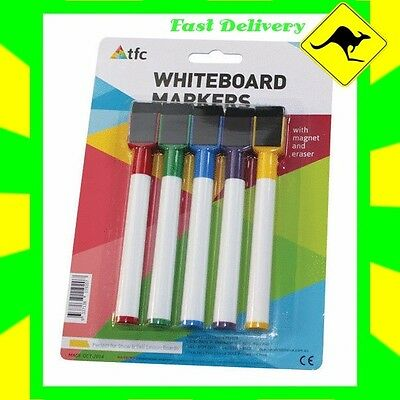 Whiteboard Markers with Magnets (5 Colours) for students