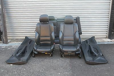 Bmw 3 Series E46 Coupe Sport Complete Black Leather Seats With Door Cards