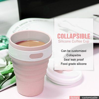 Stylish Collapsible Silicone Folding Retractable Mug Cup Portable For Outdoor GT