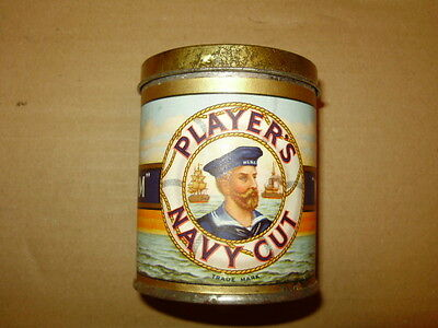 Unopened John Players Navy Cut Medium 50 Vintage Cigarette Tobacco Tin Sealed