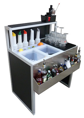 Postazione Banco PORTATILE SMONTABILE da BARMAN - BAR Barista Workstation 900mm