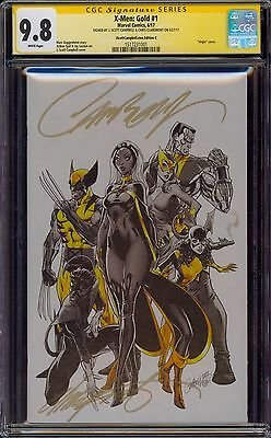 X-Men Gold 1 Cgc 9.8 2X Ss J Scott Campbell And Chris Claremont Virgin Variant
