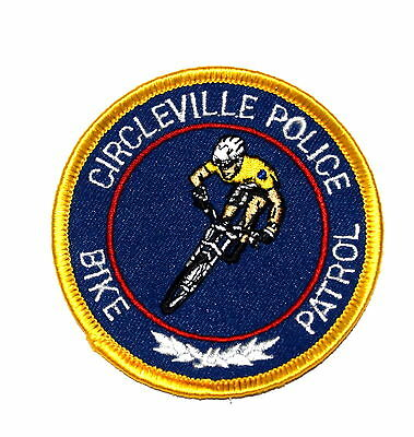 """CIRCLEVILLE – BIKE PATROL - OHIO OH  Police Sheriff Patch BIKER RACER BICYCLE 3"""""""