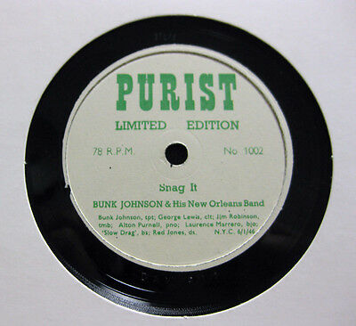 Nice Price: Bunk Johnson - Snag It / I Can't Escape From You  PURIST (017)