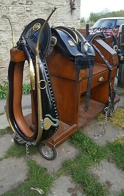 heavy horse  traditional  housen cart harness  collar  shire suffolk punch