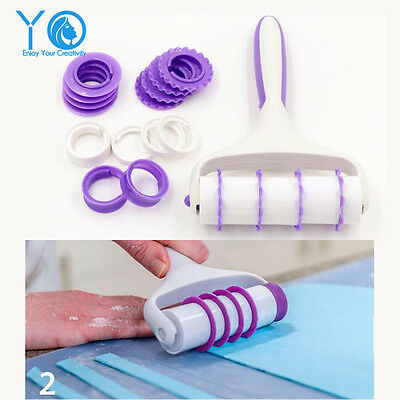 Decorative Cake Roller Set Fondant Decorative Tools Pastry and Baking Cutters