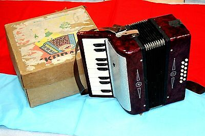 Vintage Children accordion USSR instrument for kids Soviet era