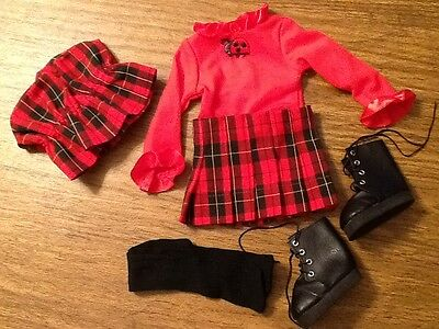 Magic Attic Doll outfit Mad About Plaid
