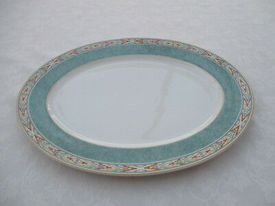 "wedgwood home aztec oval plate/platter  14"" x10.5""  excellent  used condition"