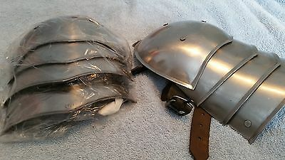 medieval armour -Repro Steel Shoulder Guards