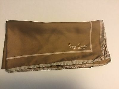 Vintage Pierre Cardin Italy Mens Hand Rolled Silk Pocket Square/Handkerchief