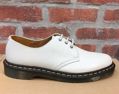 Dr. Martens 1461 Off White Blanc Casse Hug Me  Leather  Boots Size Uk 10