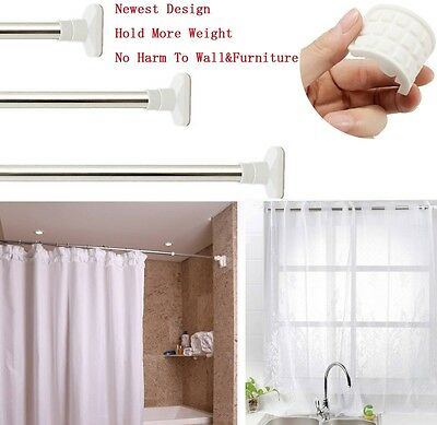 Stainless Steel Extendable Shower Curtain Rod Window Curtain Rail