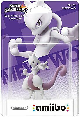 Super Smash Bros. >> MEWTWO / MEWTU No. 51 << Pokémon Amiibo Figure - NEU & OVP!