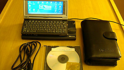 HP Jornada 728 Hand Held PC Power Cord Docking Station Leather Case Sync Cable