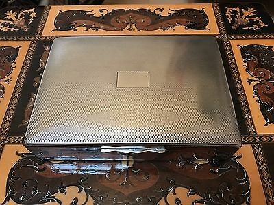 Antique Cigarette Box Made In England Silver Plated with Robert & Doré Hallmark