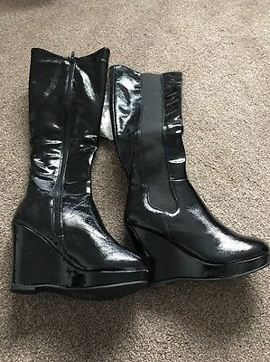Ella Boots - Black Patent - Filly Style - Size 5