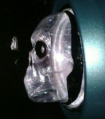 Skull headlight cover 5 3/4 inch sportster and metric cruse