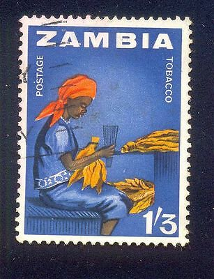 Zambia 1/3D Used Stamps A20661 Lady Tobacco