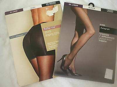 2 x pairs of M&S tights size xlarge