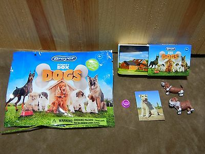 Breyer Pocket Box Dogs Bassett Hound Bulldog Opened Blind Bag
