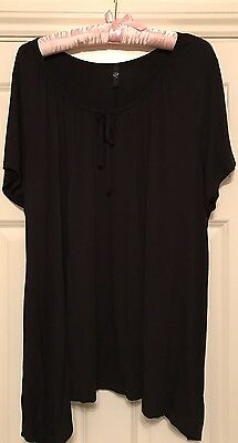 Yours Black Gypsy T Shirt Type Top Size 22-24 Longline