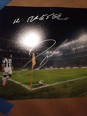 "Andrea Pirlo Autographed 8x10 Juventus Italy ""IL MAESTRO"""