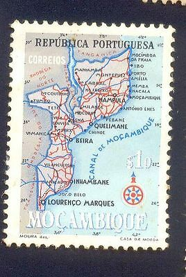 Mozambique 10$ Unused Stamps A13679 Map