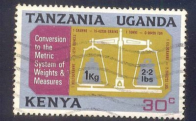 Tanzania 30C Used Stamps A13467 Weight Balance Machine Conversion Metric System