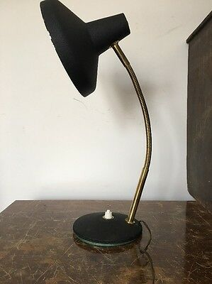Vintage French Rustic desk light lamp 20th century MCM, Bauhaus Industrial.