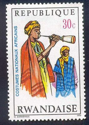 Rwanda 30C Unused Stamps A11444 Man Painting Costumes National Africans