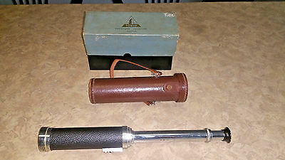Vintage Tower Vari-Power 15X, 20X, 25X & 30X Telescope in Leather Case