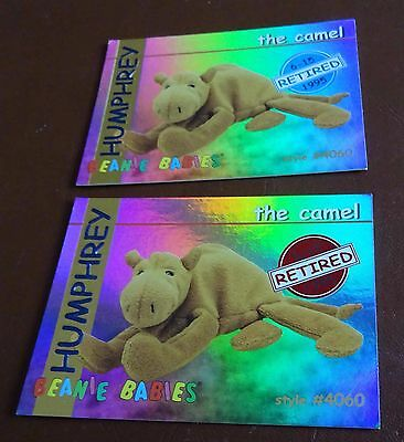 TY Beanie Baby Card - Series 1 - Humphrey the Camel - Red & Blue - Retired