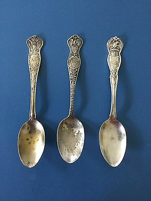 (3) US State Souvenir Spoon New York, Arkansas & Missouri