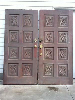 Mediterranean or Spanish style solid heavy double entry doors - vintage used
