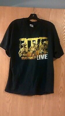 BRAD PAISLEY 2006 Live Tour 2-Sided Black Concert T-Shirt Adult XL