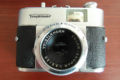 VOIGHTLANDER VITO B CAMERA in Leather Case with CAPITAL Light Meter