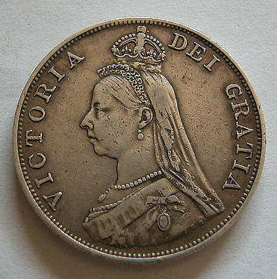 Great Britain-Queen Victoria-Silver Jubilee Double Florin 1890-Km # 763