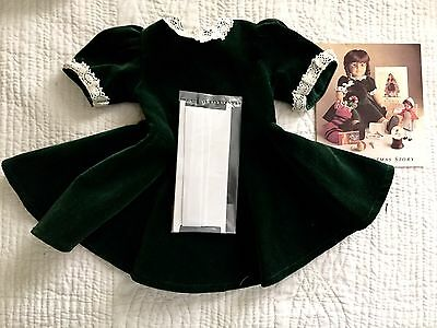 Pleasant Company American Girl Molly Orig  Christmas Dress 1986 Pamphlet Ribbons