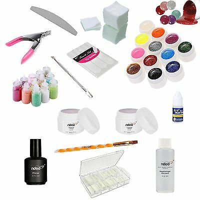 Kit Ricostruzione Unghie Gel Uv Nded Germany Lime Nail Art Senza Lampada