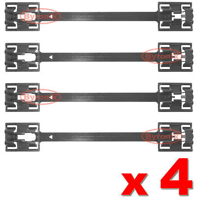 VAUXHALL VECTRA B SIDE SKIRT SILL PANEL MOULDING CLIPS CLAMP STRIPS OPEL x 4