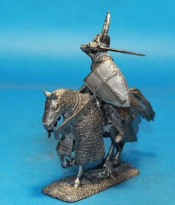 Knight of the Teutonic Order White metal figures Tin toy soldier 54mm