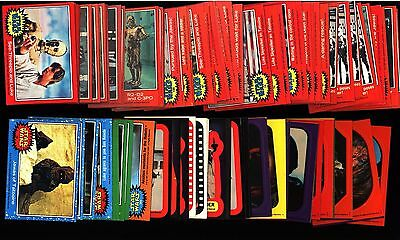 1977-83 Topps Star Wars Card Sticker Lot 100+ Red Blue Green Ex / Ex-Mt+