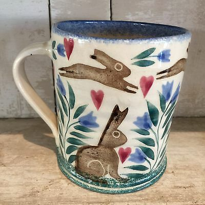 Bell Pottery Large Mug Brown Hare Design
