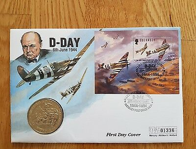 £2 coin first day cover D day 1994
