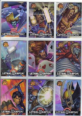 95 Chromium Fleer Ultra X-men Complete 9 Card Lethal Weapons Subset 1995